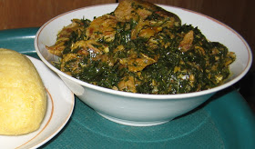 Mouth-watering banga soup from southwest of Nigeria. I love!