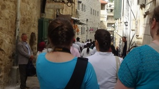 walking down the street via dolorosa