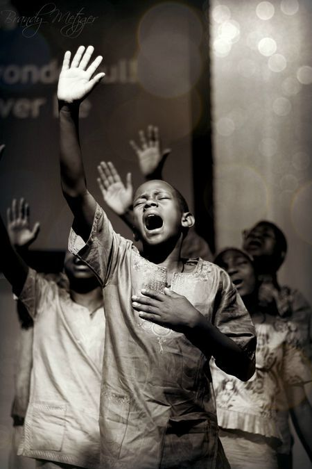 boy in worship.
